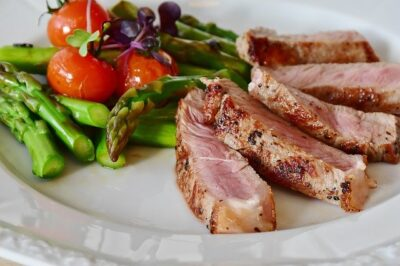 healthy meal with protein and vegetables